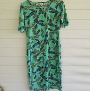 Feathered LulaRoe Julia Dress
